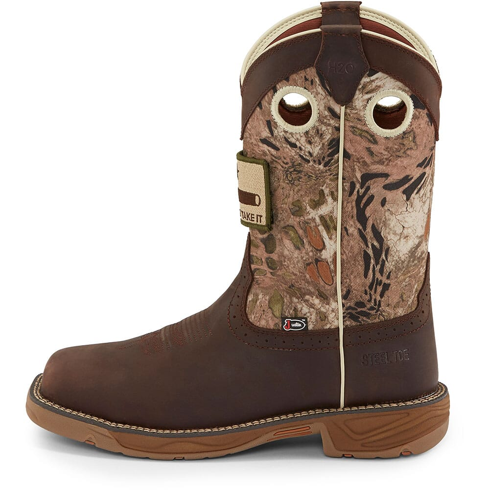 Justin Original Men's Stampede Rush Safety Boots - Grizzly Brown