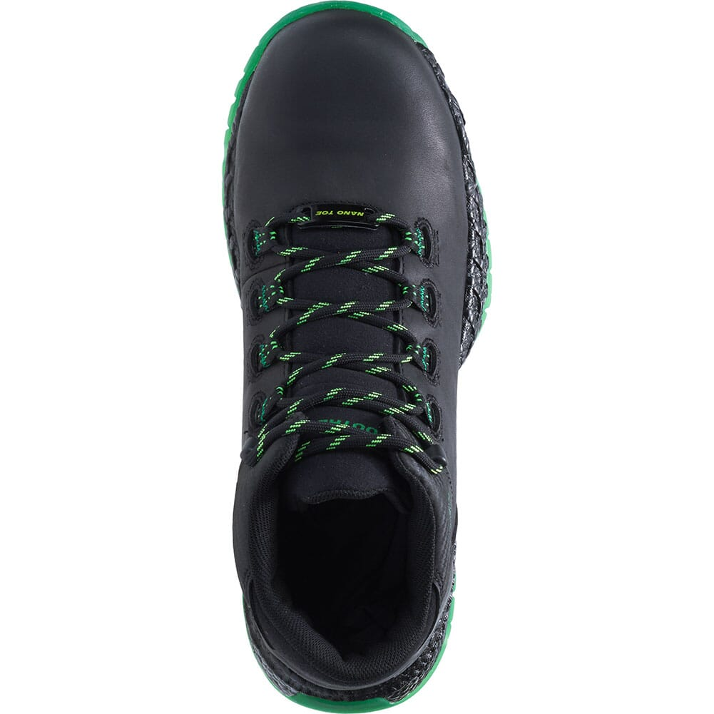 Footrests by Hytest Men's 2.0 Xergy Trainer Safety Shoes - Black/Green
