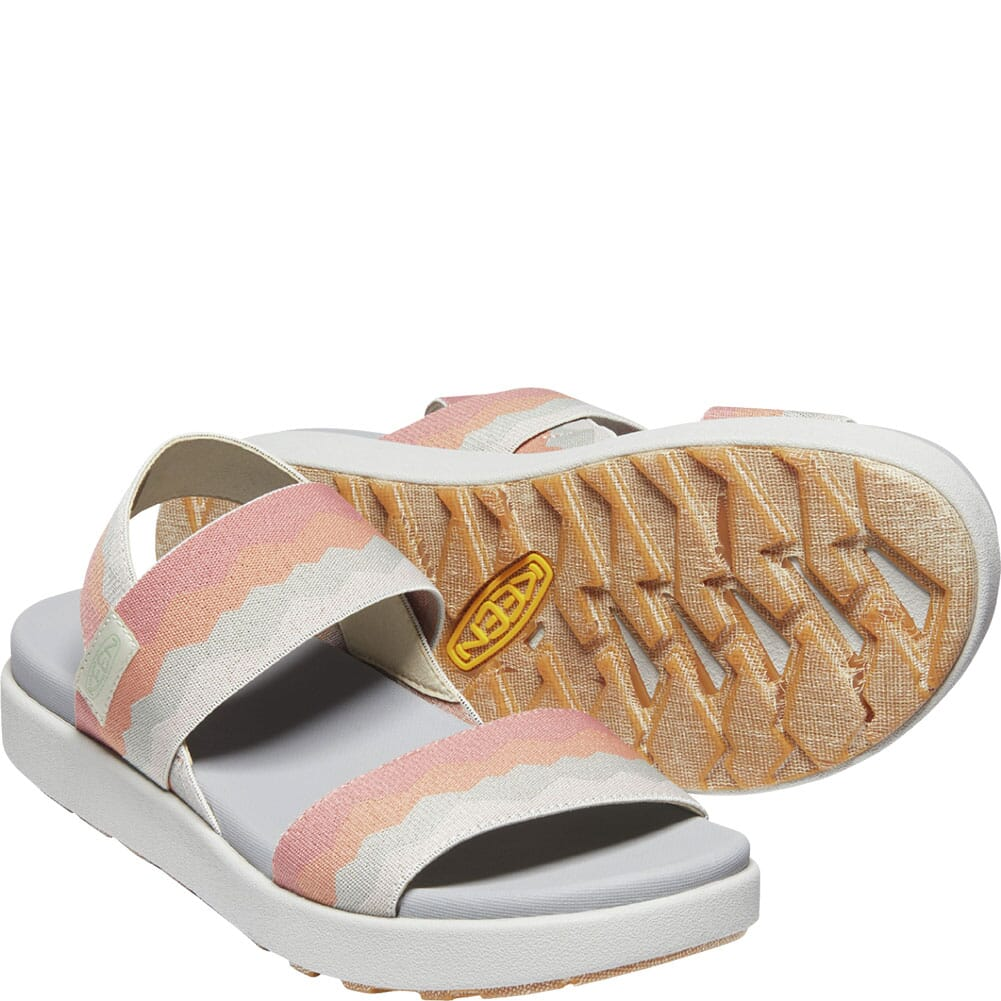 1024712 KEEN Women's Elle Backstrap Sandals - Brick Dust/Vapor