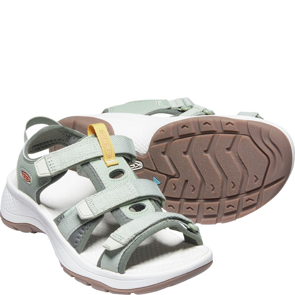 1024872 KEEN Women's Astoria West Open Toe Sandals - Desert Sage/Castor Grey