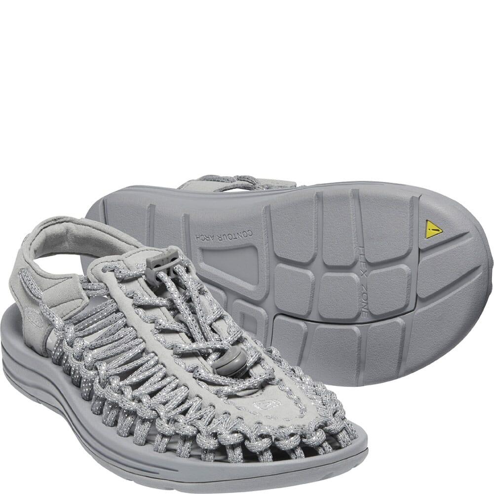 1025195 KEEN Women's Uneek Sandals - Silver/Drizzle