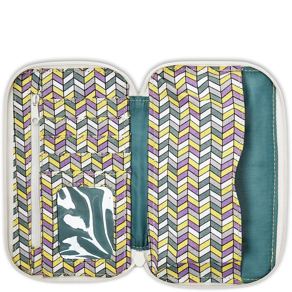 9104-1412 Kavu Women's Go Time Bi-Fold Wallet - Itty Bitty Chevron