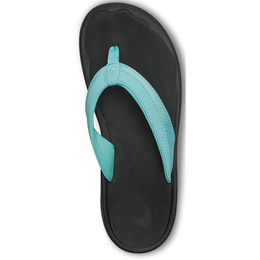 20110-1V40 OluKai  Women's Ohana Flip Flops - Sea Glass/Black