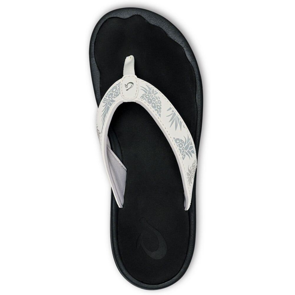 20110-WBHQ OluKai Women's Ohana Flip Flops - Bright White/Hua