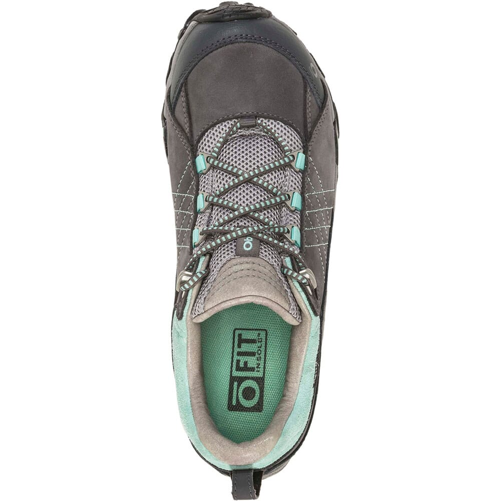 OBOZ Women's Sapphire Low WP Hiking Shoes - Charcoal/Beach Glass