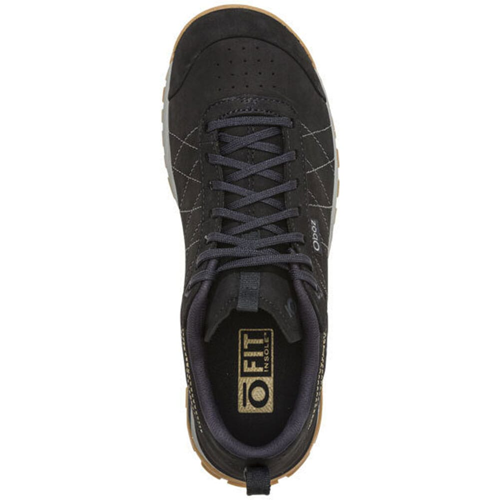 74202-BLK Oboz Women's Bozeman Low Leather Hiking Shoes - Black