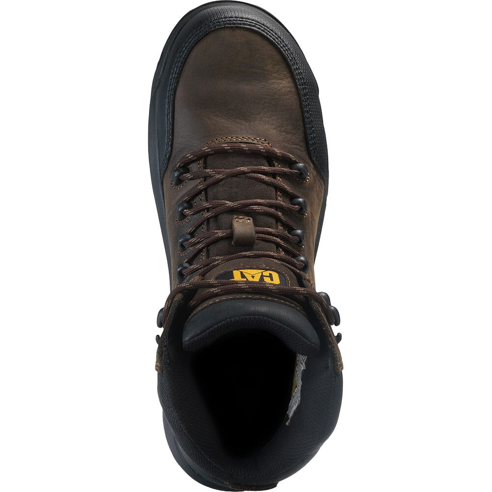 90977 Caterpillar Men's Resorption WP Comp Toe Safety Boots - Seal Brown