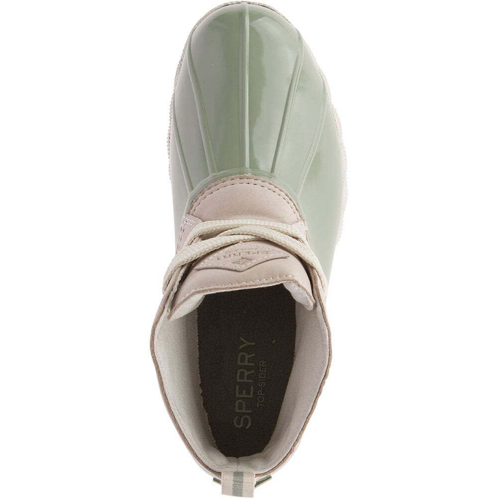 Sperry Women's Saltwater 2-Eye Duck Boots - Ivory/Sage