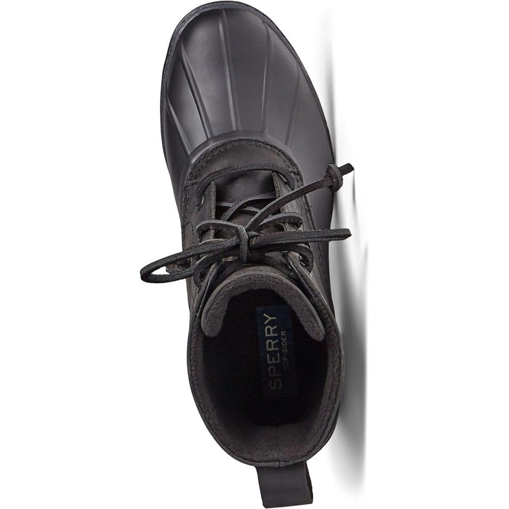 STS85478 Sperry Women's Saltwater Heel Leather Duck Boots - Black