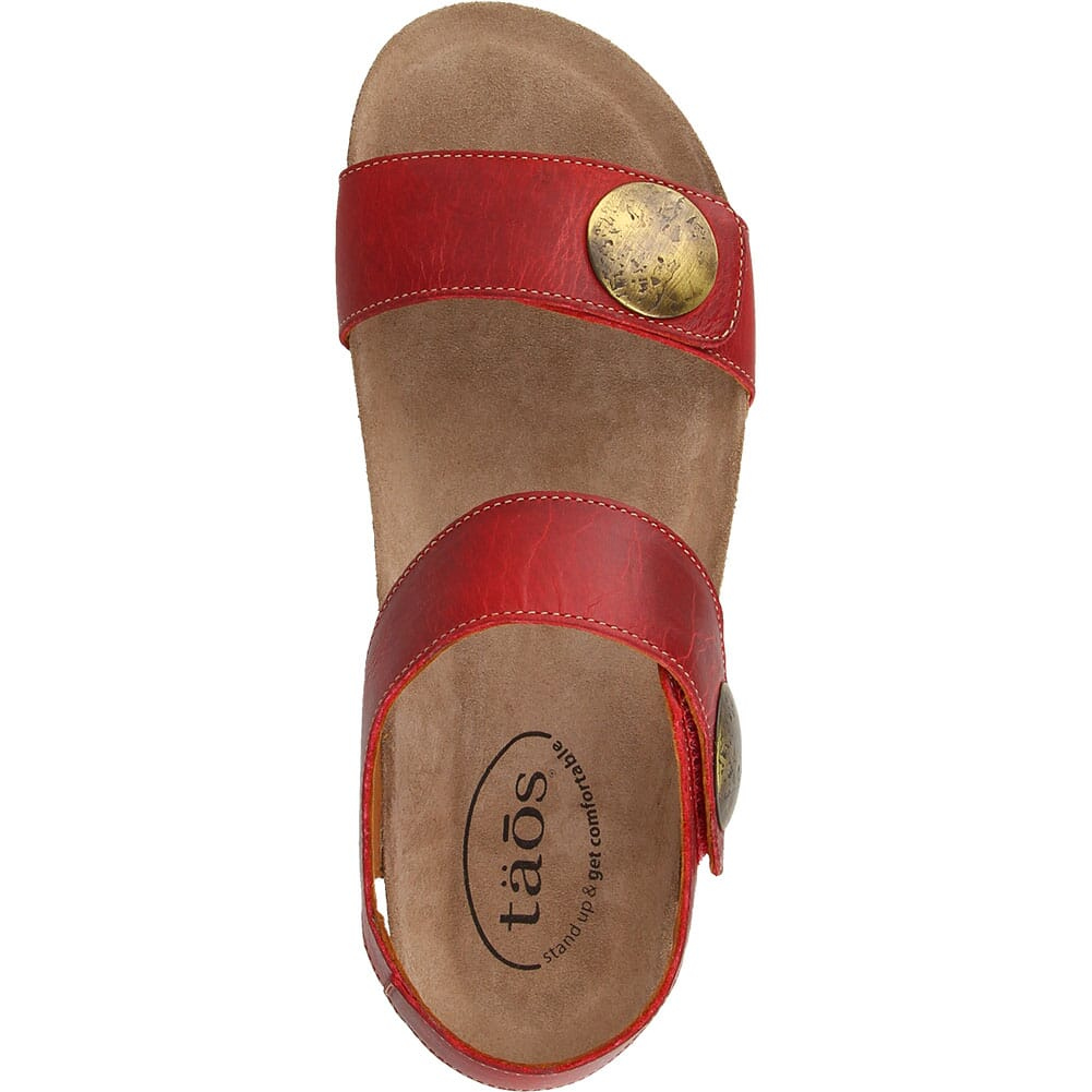 LUC-5246-RED Taos Women's Luckie Sandals - Red