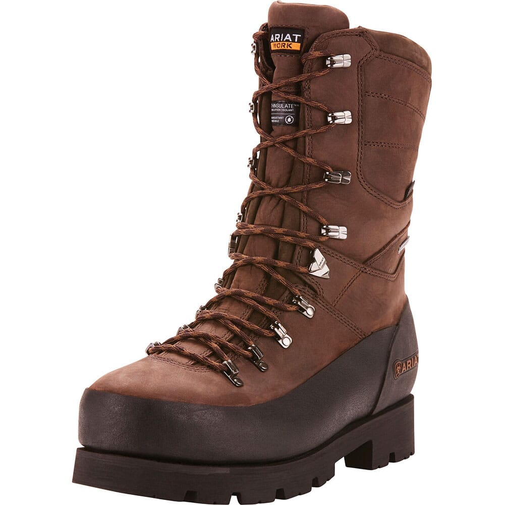 Ariat Men's Linesman Ridge WP Safety Boots - Bitter Brow