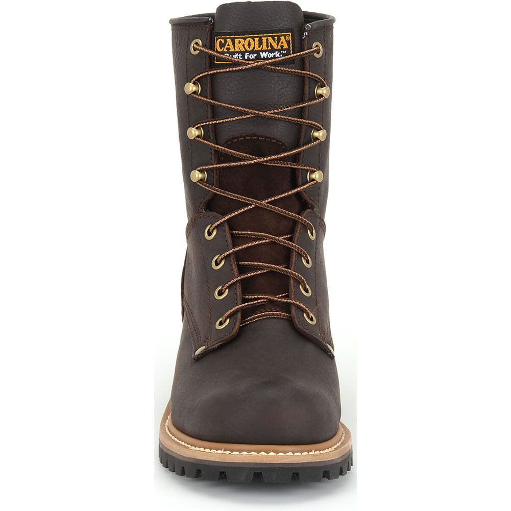 Carolina Men's 8IN Safety Loggers - Soggy Brown