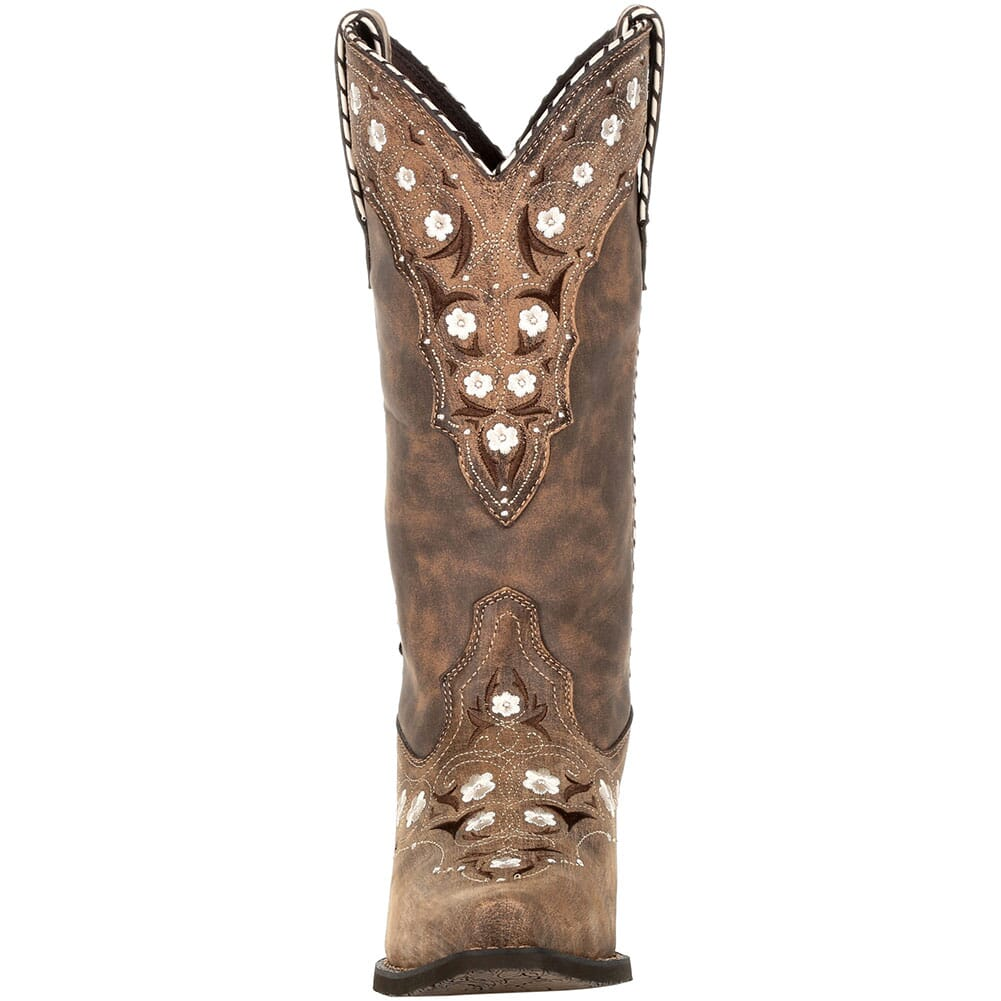 DRD0362 Durango Women's Crush Floral Western Boots - Driftwood
