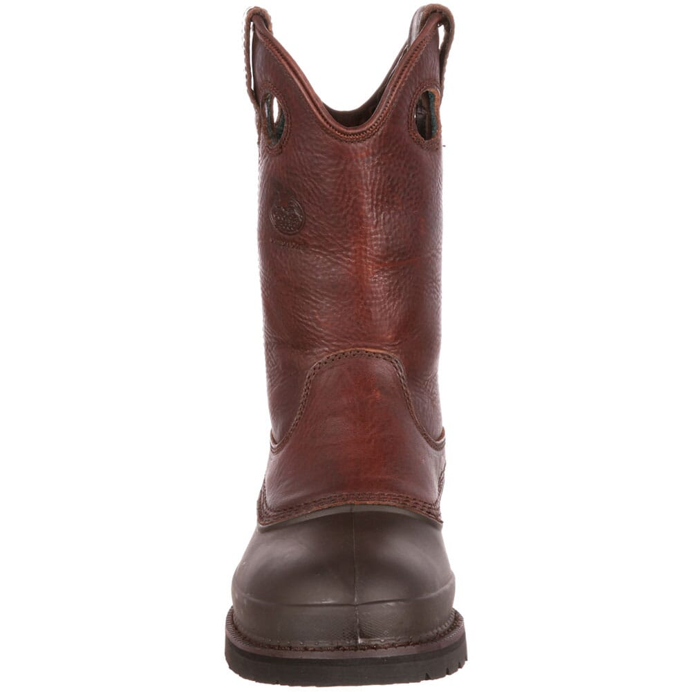 Georgia Men's Mud Dog Pull-On Safety Boots - Brown