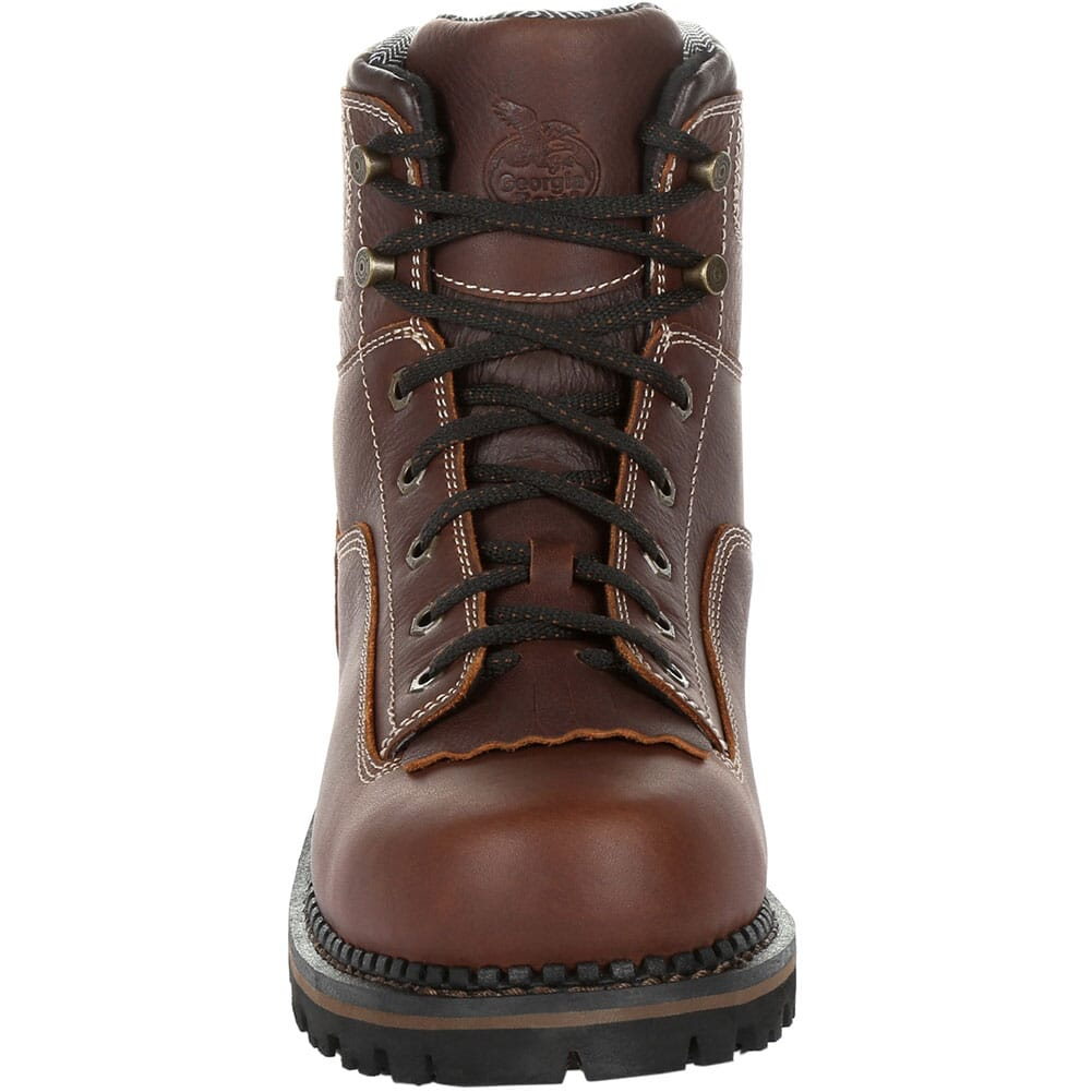 Georgia Men's AMP LT WP Work Loggers - Brown