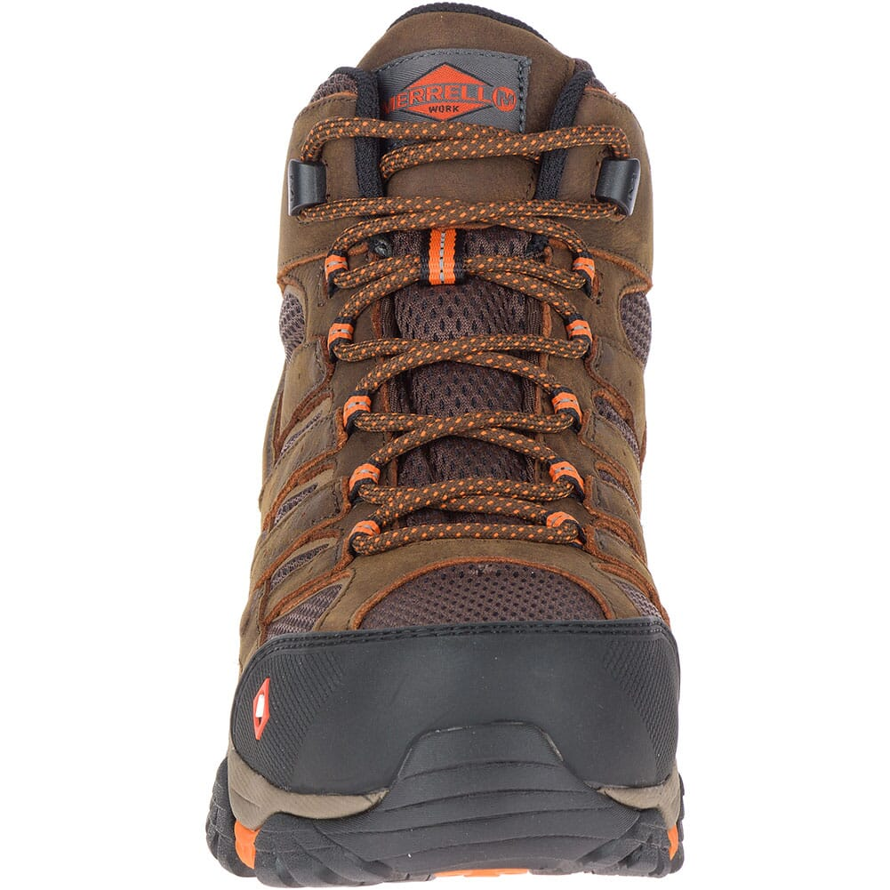 Merrell Men's Moab Vertex Vent Wide Safety Boots - Clay