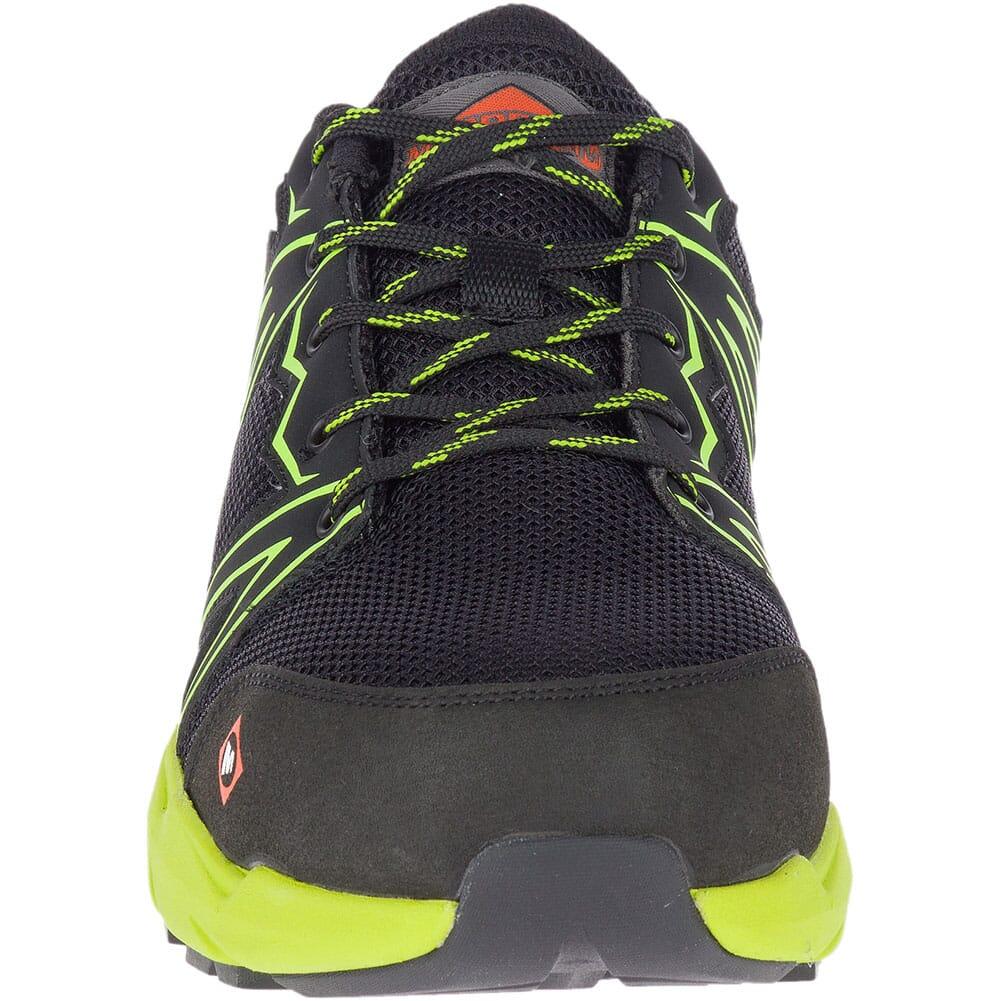 Merrell Men's Fullbench Superlite Safety Shoes - Black/Lime