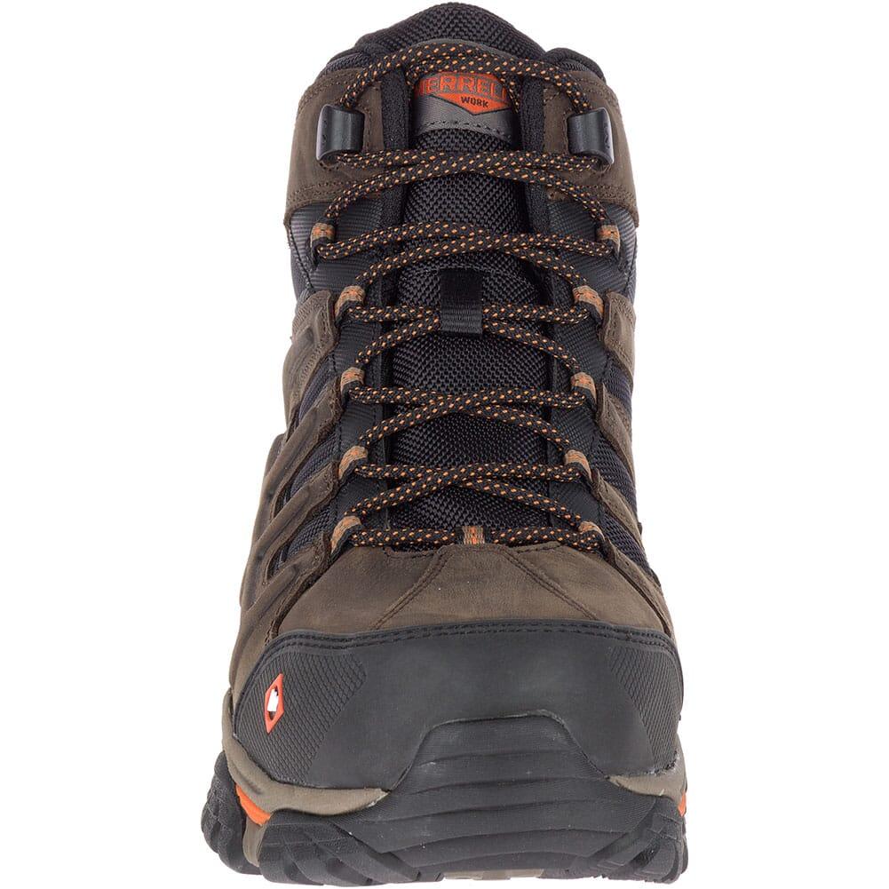 Merrell Men's Moab 2 Peak Mid WP Safety Boots - Espresso