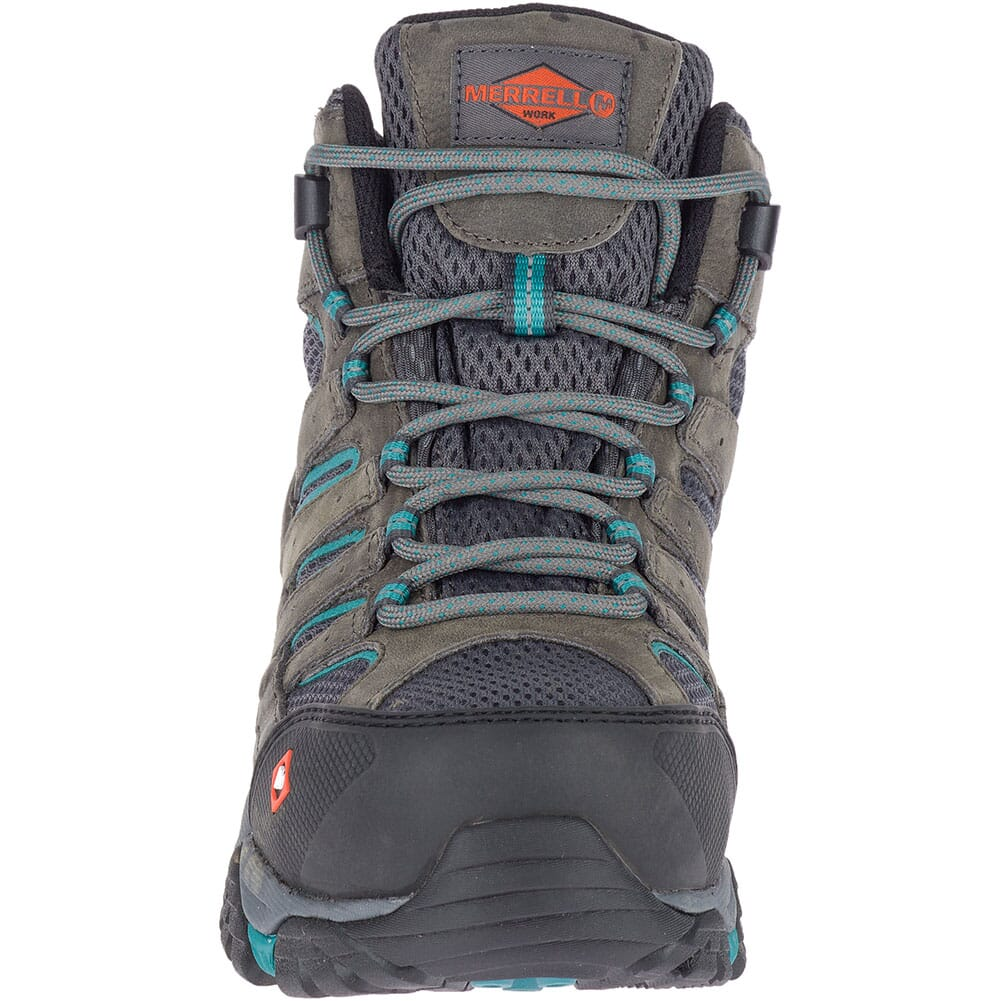 Merrell Women's Moab Vertex Mid WP Safety Boots - Pewter