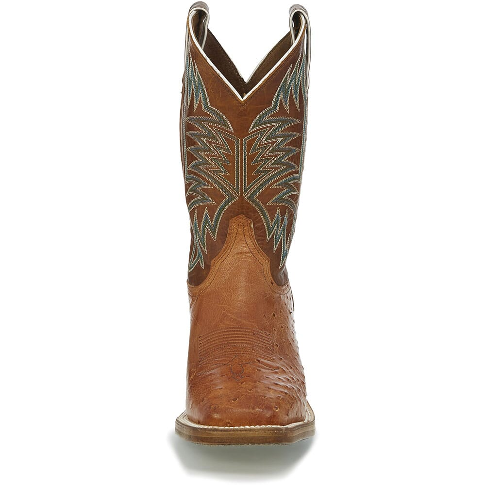 Justin Men's Josiah Western Boots - Orange/Cognac