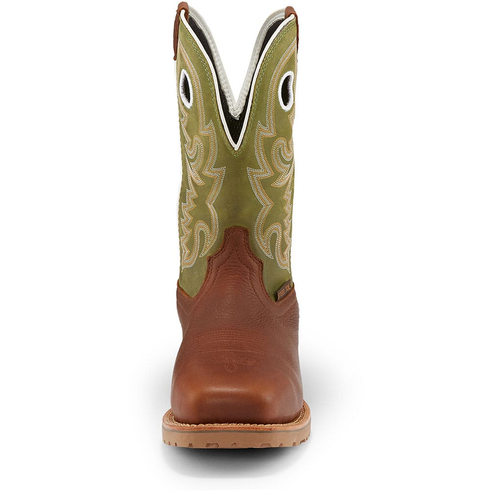 Justin Original Men's Marshal Safety Boots - Agave Green/Whiskey
