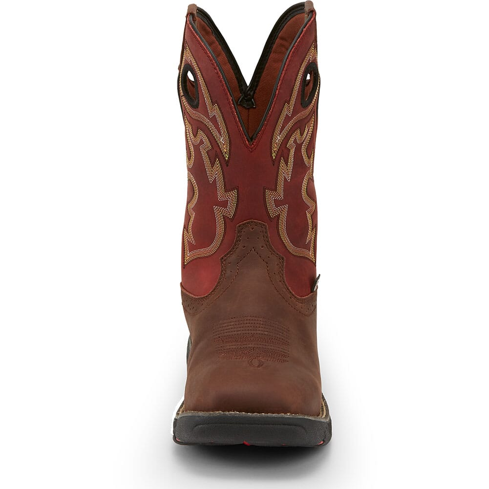 Justin Original Men's Stampede Rush Work Boots - Fiesta/Grizzly Brown