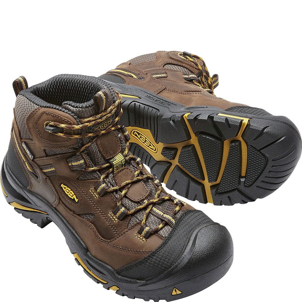 1020162 KEEN Utility Men's Braddock Mid Work Boots - Cascade Brown/Tawny Olive