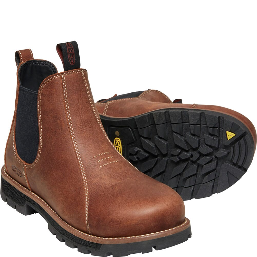 1022086 KEEN Utility Women's Seattle Romeo Safety Boots - Gingerbread