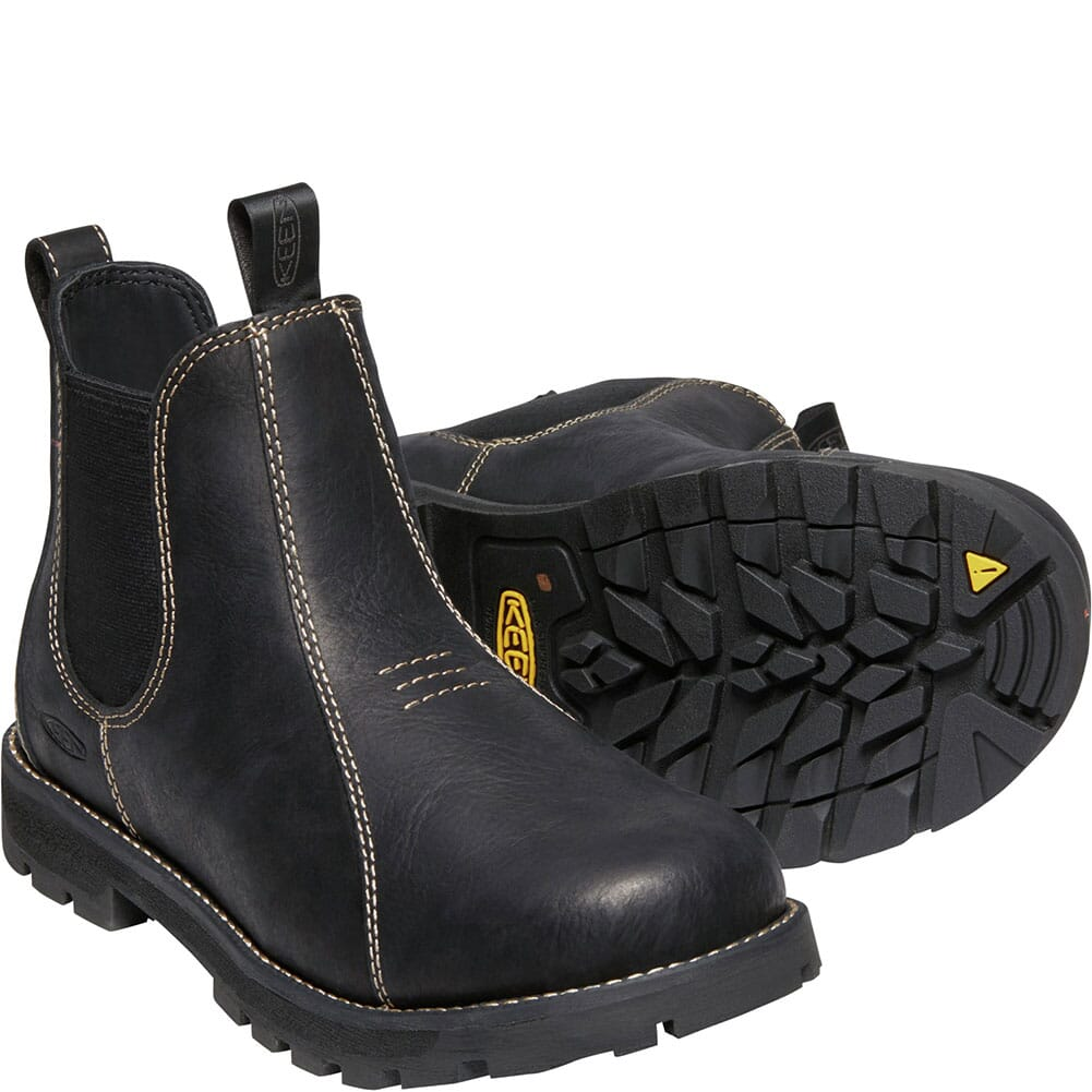 1022093 KEEN Utility Women's Seattle Romeo Work Boots - Black