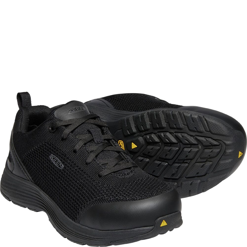 1023211 KEEN Utility Women's Sparta Safety Shoes - Black/Black