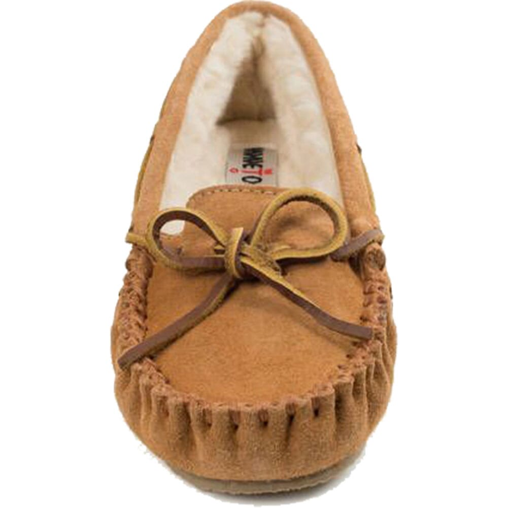4012 Minnetonka Women's Cally Sheepskin Moccasins - Cinnamon