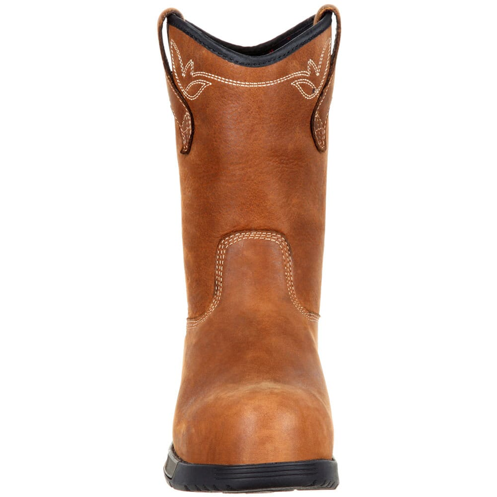 RKK0224 Rocky Women's Aztec WP Safety Pull-On Boots - Brown