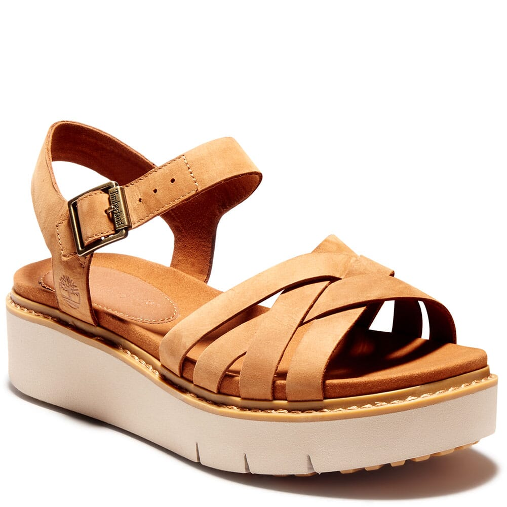 A275DF13 Timberland Women's Safari Dawn Multi-Strap Sandals - Rust