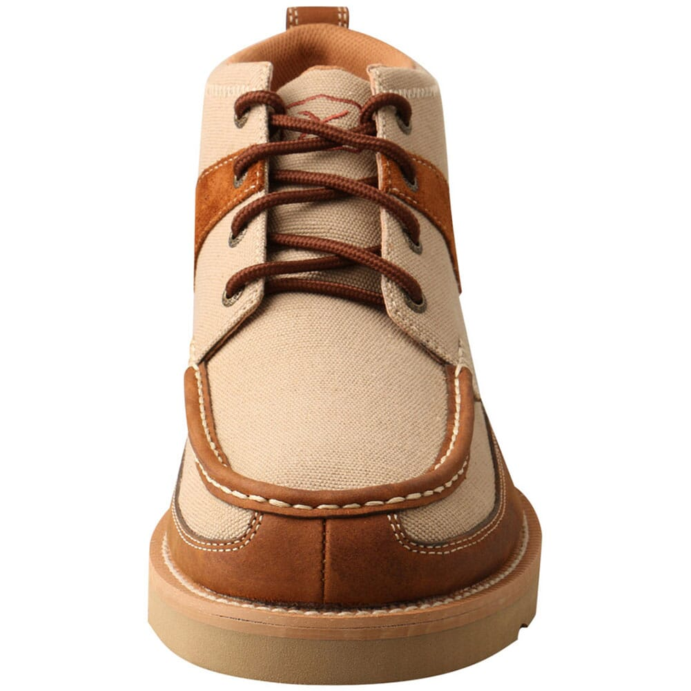 MCA0031 Twisted X Men's Wedge Sole Casual Shoes - Khaki/Oiled Saddle
