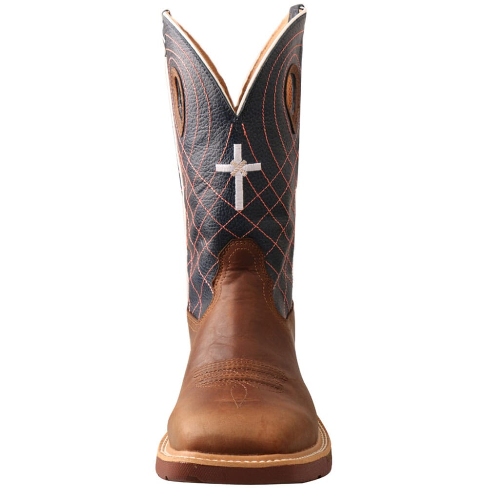 MXBW001 Twisted X Men's CellStretch Work Boots - Mocha/Navy