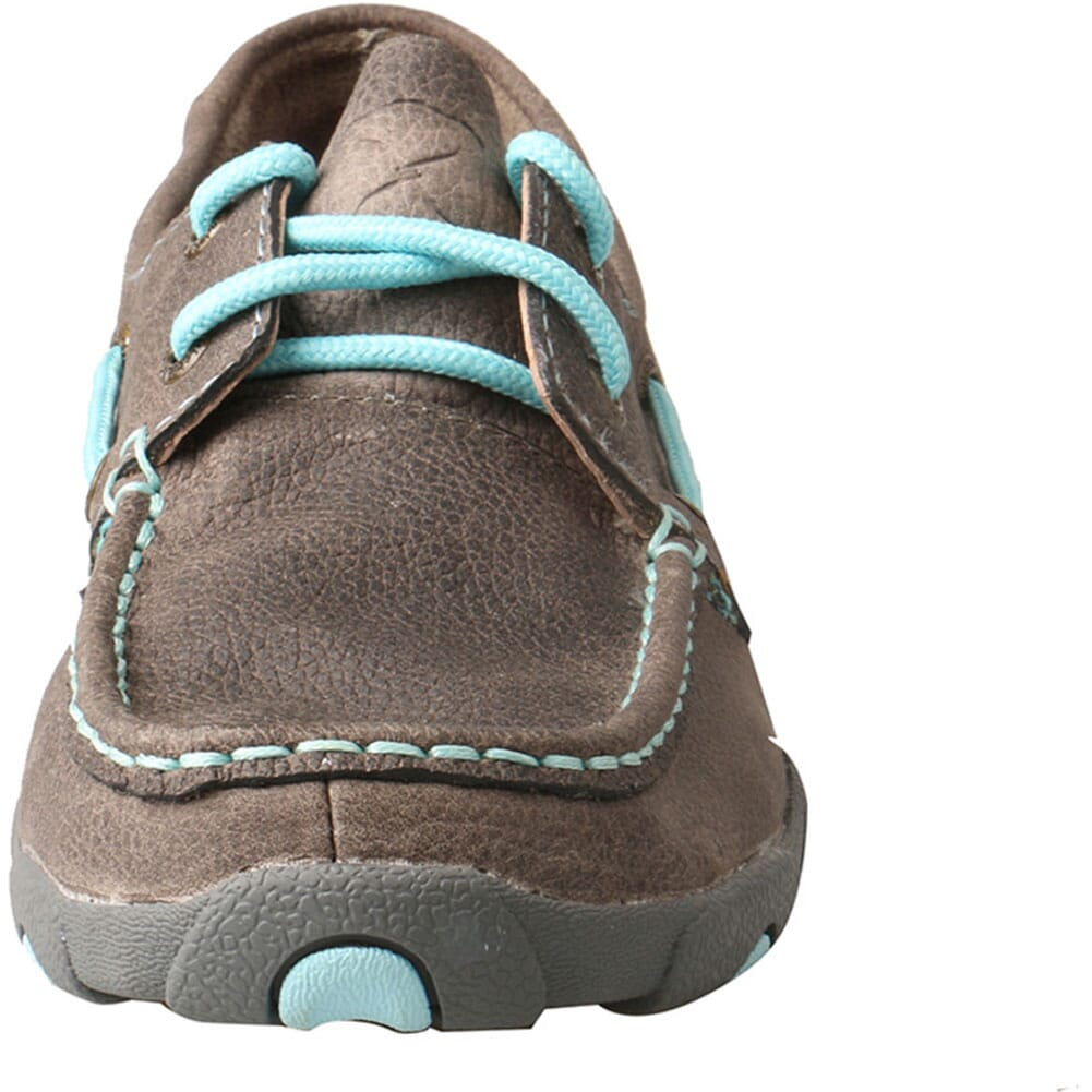 WDM0098 Twisted X Women's Boat Shoe Driving Moc - Grey/Light Blue