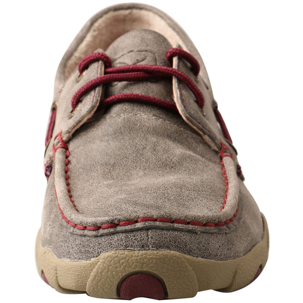 WDM0121 Twisted X Women's Boat Shoe Driving Moc - Grey/Berry