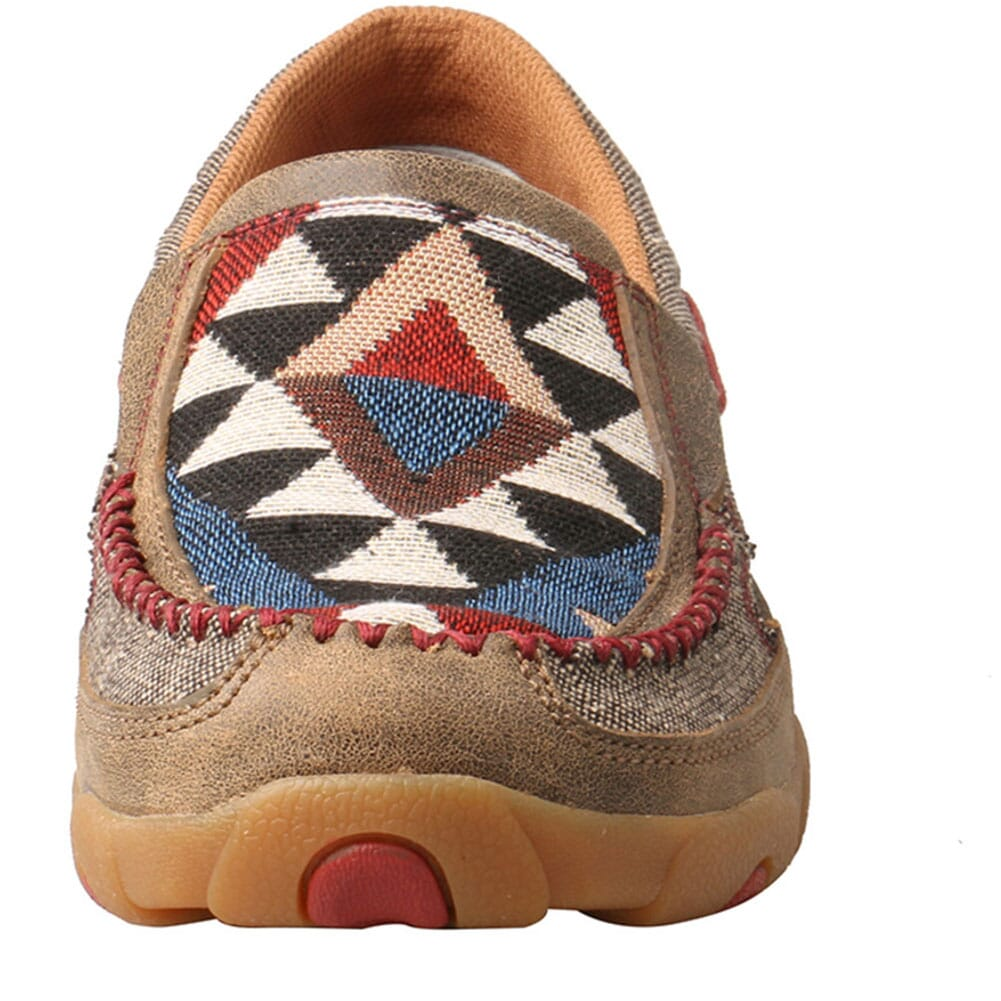 WDMS011 Twisted X Women's Driving Moc Slip Ons - Dust/Multi