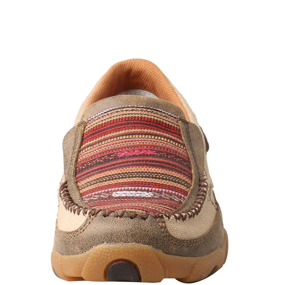 WDMS013 Twisted X Women's Driving Moc Slip Ons - Khaki/Multi