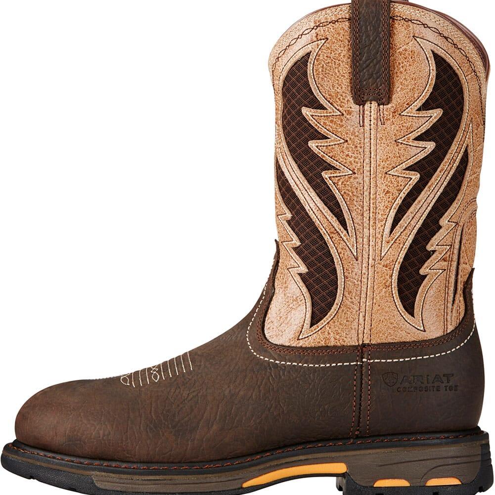 Ariat Men's Workhog VentTEK Safety Boots - Bruin Brown/Stone