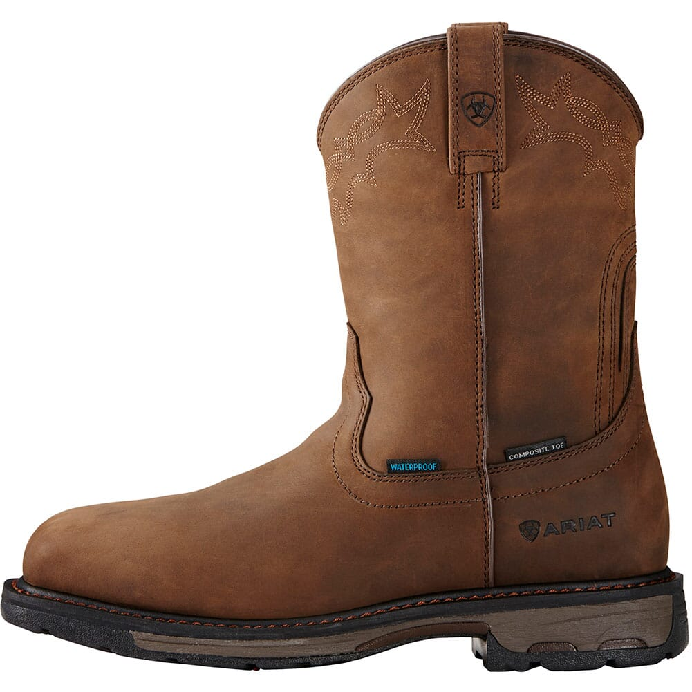 Ariat Men's Workhog H2O Safety Boots - Distressed Brown