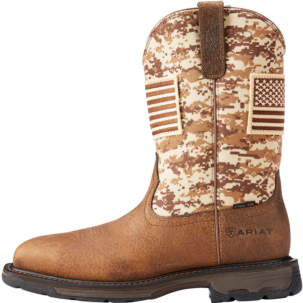 Ariat Men's Workhog Patriot Safety Boots - Earth/Sand Camo
