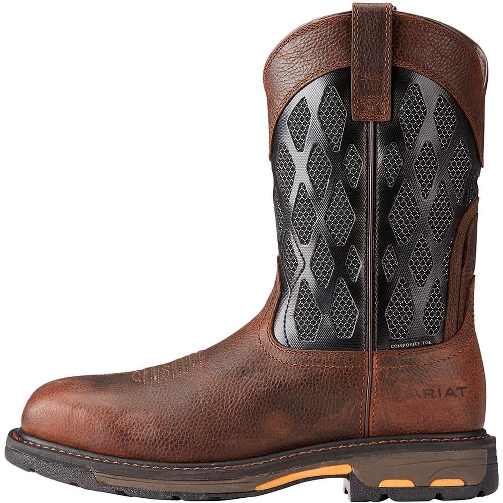 Ariat Men's Workhog VentTek Safety Boots - Charcoal/Brown