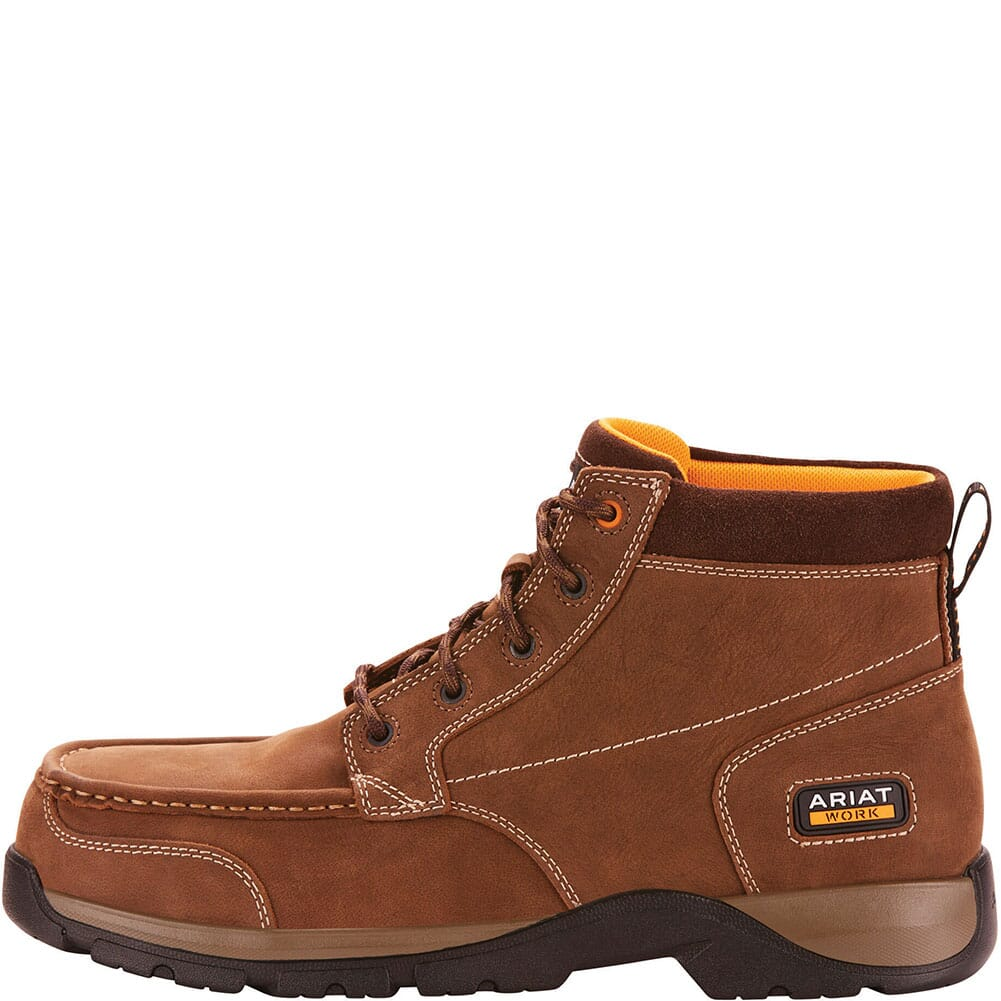 Ariat Men's Edge LTE Chukka Safety Boots - Dark Brown