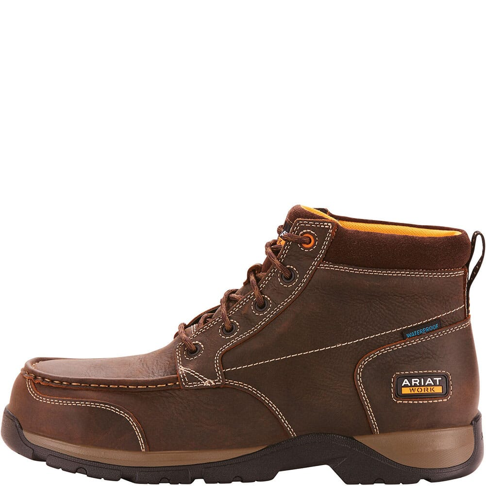 Ariat Men's Edge LTE WP Safety Chukka - Dark Brown