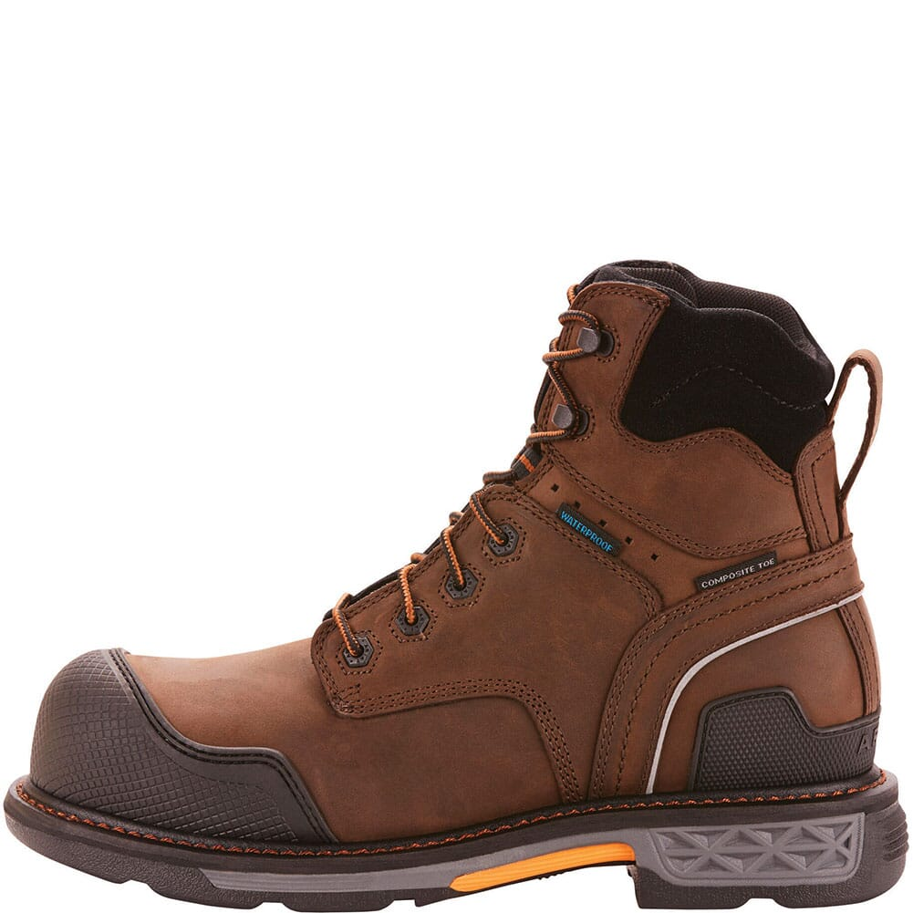 Ariat Men's OverDrive XTR WP Safety Boots - Oily Distressed Brown