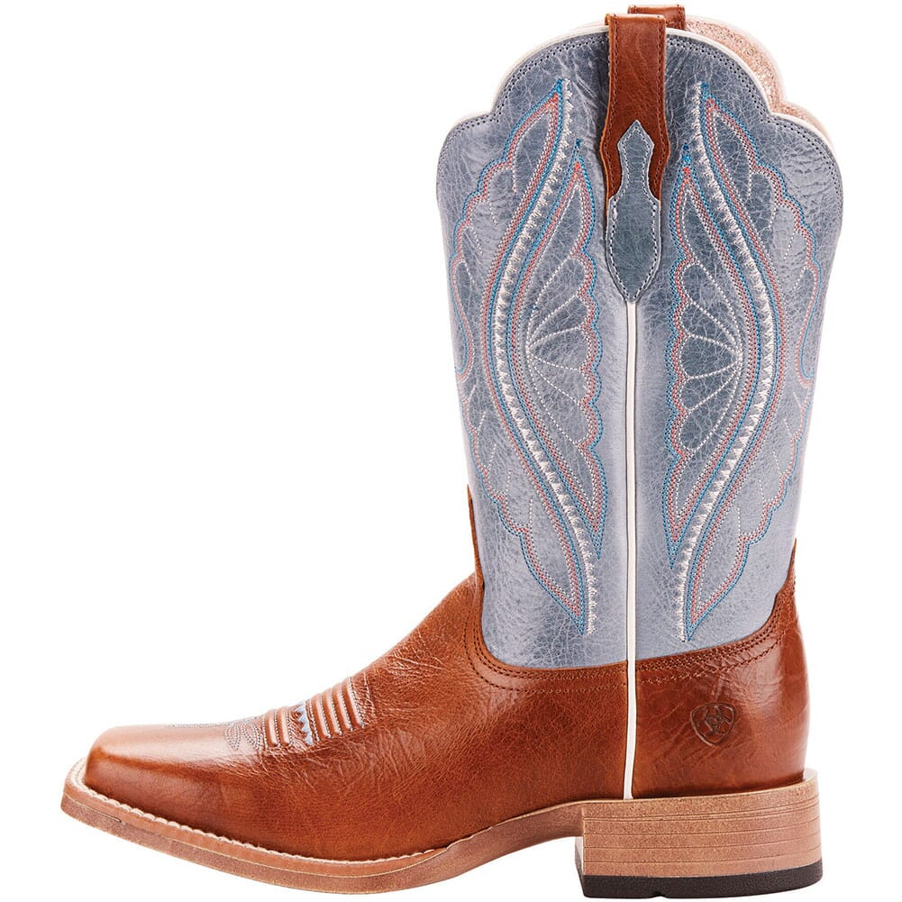 Ariat Women's Primetime Tack Western Boots - Gingersnap/Baby Blue Eyes