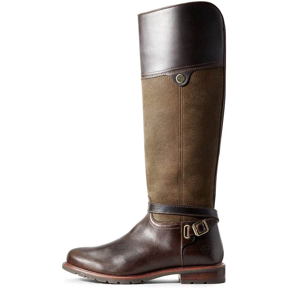 Ariat Women's Carden WP Equestrian Boots - Chocolate/Willow