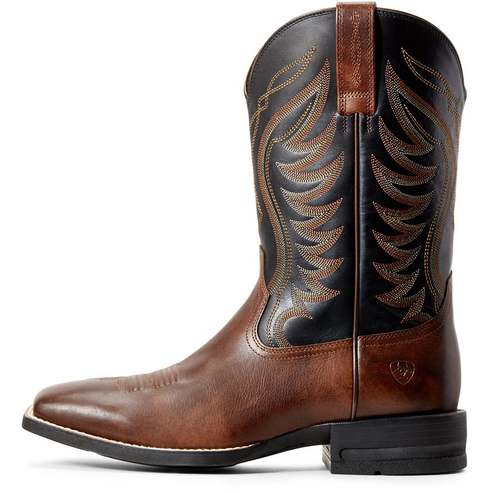 Ariat Men's Round Pen Western Boots - Clean Saddle