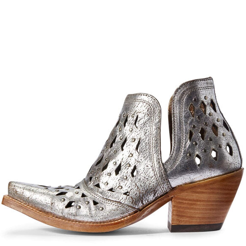 Ariat Women's Dixon Studded Western Boots - Silver Metallic